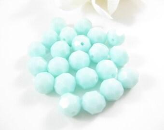 6PC - 8MM Mint Alabaster Swarovski Crystal Beads, 5000 Round Bead Jewelry Supplies