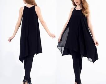 Maternity tunic, Oversized tunic, Tunics, Slow lifestyle dress, Plus size tunic, Plus size petite, Crochet tunic dress, Black tunic dress
