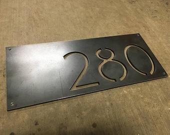 Metal house numbers Etsy