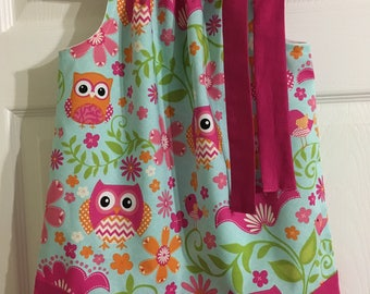 Girls Handmade Owl Pillowcase Dress