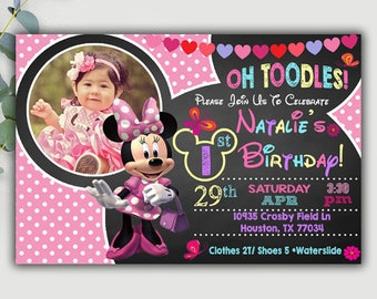 Minnie Mouse Invitations, Minnie Mouse Birthday Invitation, Minnie Mouse Party, Minnie Mouse Invites, Minnie Mouse Printable, Minnie Mouse