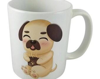Cute Kawaii Chibi Pug Mug