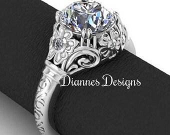 Vintage Inspired Floral Filigree Ring