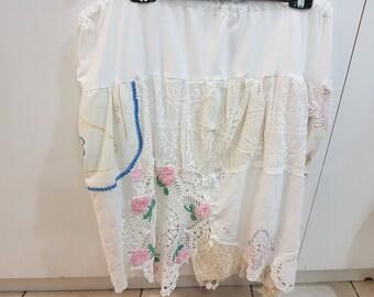 Handmade doily skirt