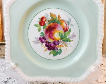 Johnson Brothers Square Salad Plate - Bone China - Fruit - From Early 1900's