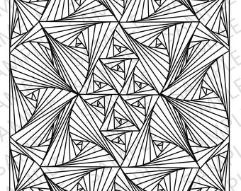 Vortex Illusion Coloring Page