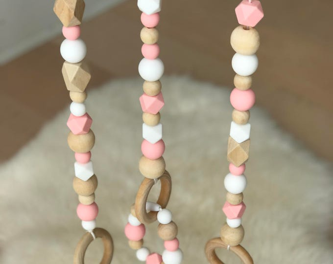 3 Beaded Strands with Removable Teething Bracelet (Play Gym Frame not included)