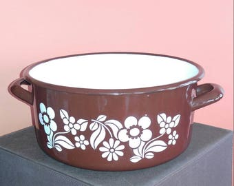 Vintage Enamel Stock Pot made in Poland