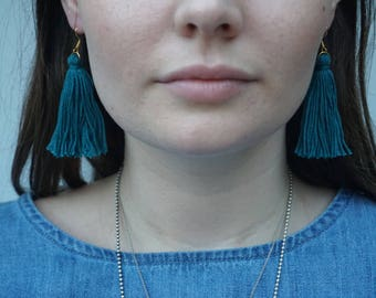 Tassel Earrings - Teal Yo Gurl