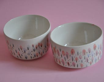 Set of two small coffee/tea cups