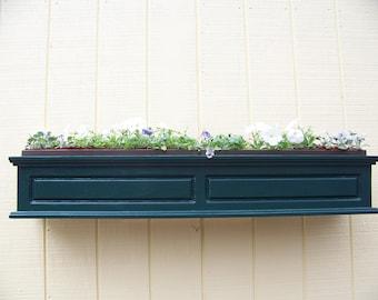 Cedar Window Box with Panel Design