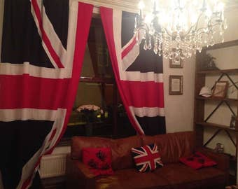union jack curtains