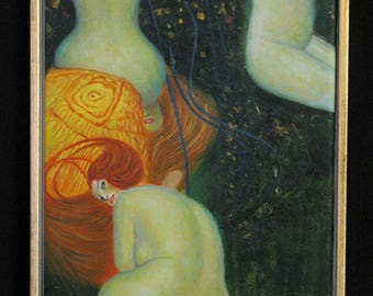 """Oil PAINTING by KLIMT nudes """"reproductions"""""""