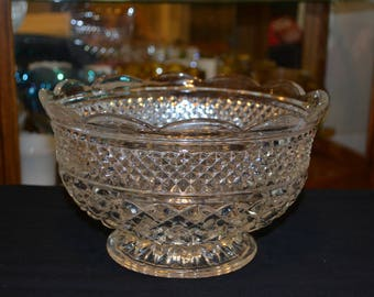 Anchor Hocking Wexford Large Footed Bowl