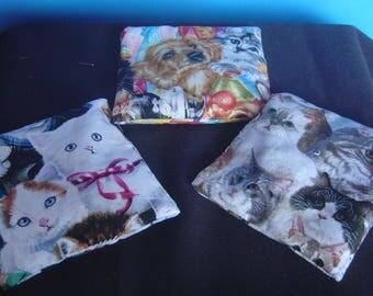 Very Cute Kitty Catnip Bags Lot of 3