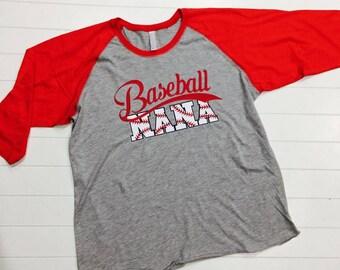 Baseball Nana, Baseball Nana with Stitches, Raglan, Baseball Tee, Womens