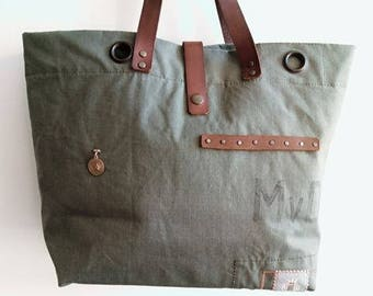 US military canvas tote bag