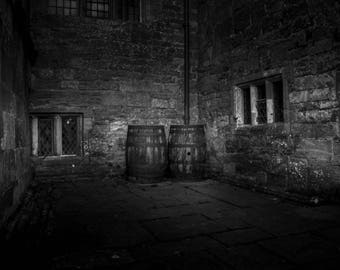 hidden barrels, old aged but still provide a mysterious beauty in black and white