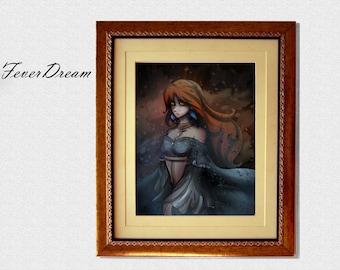 Elegant Lady Print Digital Wall Art - 11x8.5inch - Unique Modern Artwork