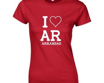 I love Arkansas Womens T shirt