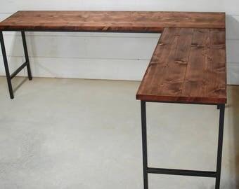 Wood Industrial Desk, Computer Desk, Industrial Furniture, Office Furniture, Modern Desk, Wood Desk, Reclaimed Wood, Office Desk, Wood Desk