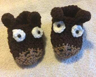 Crochet Baby horse slippers