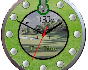 TEE Time Golf Wall Clock Add your LOGO/A NAME Can be personalised