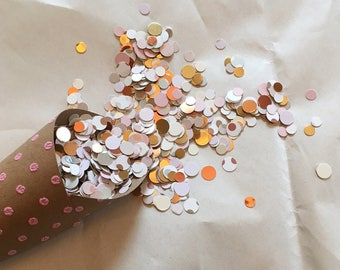 Bridal Shower Blush & Gold Confetti