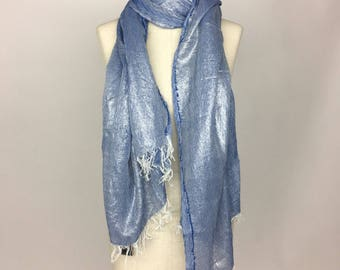 Laminated cotton Scarf/scarf-Made in Italy
