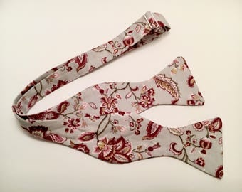 Floral Blossom Bow Tie (Self-tie)