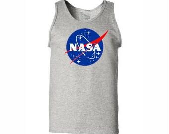 NASA Shirt Nasa Tank Top Gray color
