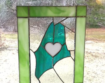 I love Maine stained glass panel