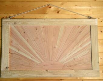 Wooden framework. Sunset Art. Qt-R1001