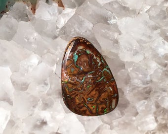 18mm Koroit Boulder Opal Freeform Cabochon - Free Shipping