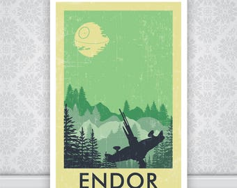 Endor Star Wars Poster