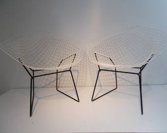 Diamond Chair 421 Knoll Harry Bertoia original 50s 1950s vintage x 2