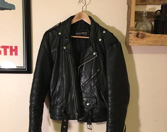 Vintage Wilson's Black Leather Jacket