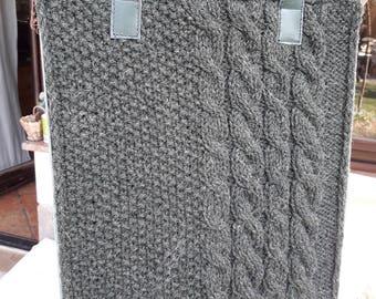 Big Gray Handbag (hand-knitted)