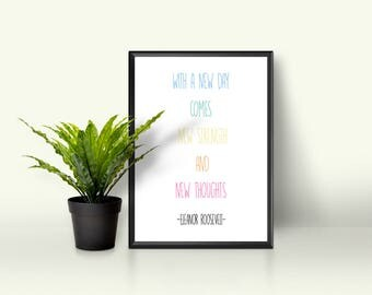 Inspirational Positive Quote Wall Art Print 8 x 10 in. on Archival Paper