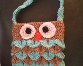 Child's Crochet Owl Purse