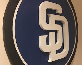 Custom 3D San Diego Padres Logo Sign