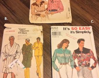 Vintage Mens Patterns
