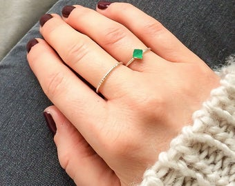 Green onyx ring | sterling silver