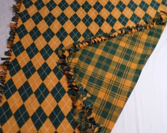 Green and Gold Fleece Blanket