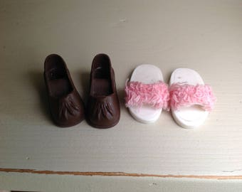 Vintage Sindy doll shoes x 2 pairs 1980s