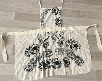 Apron, Stone printing kitchen apron, kitchen apron, stone printing, handmade kitchen apron