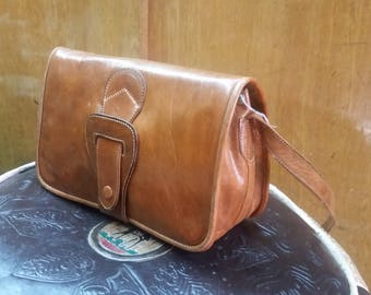 Leather handbag - handmade