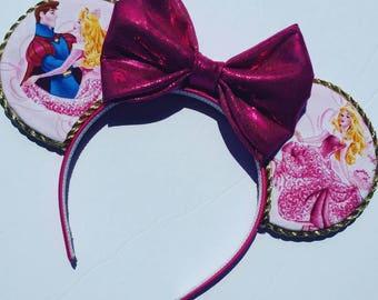 Aurora disney ears headband