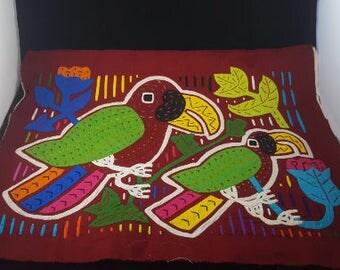 Hand Stitched Imported Folk Art Blocks