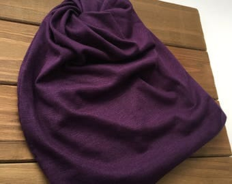 Midnight Purple Swirl Beanie